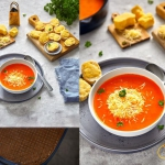 Zupa peperonata z cheddar...