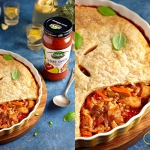 Chicken pot pie z sosem...