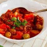 Ośmiornica w pomidorach