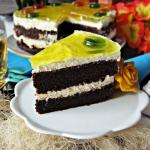 Tort brownie z galaretka ...