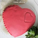 Ciasto serce z kremem cze...