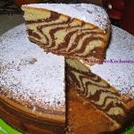 Ciasto zebra z sokiem...