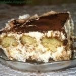 Kawowe ciasto tiramisu na...