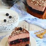 Ciasto jeżynowe z musem...