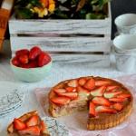 Ciasto serowe z truskawka...