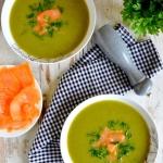 Zielona zupa z brokula, c...