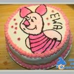 Pasiasty, różowy tort ...