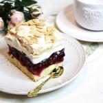 Wisniowa chmurka -ciasto