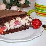 Tort czekoladowy z truska...