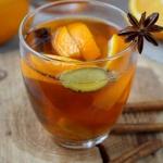 Zimowa herbata z pomaranc...