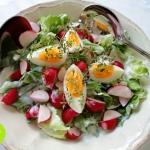 Dietetyczna salatka z jaj...