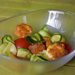 Salatka z cukinia i smazo...
