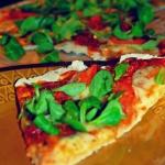 Pizza z roszponką i...