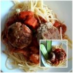 Spaghetti z kotlecikami...