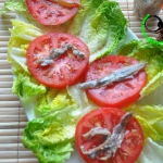 romaine lettuce with anch...