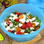 Salatka z pieczonym schab...
