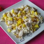 Salatka z kurczakiem, man...