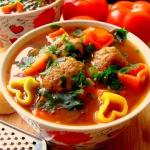 Wloska zupa z klopsikami