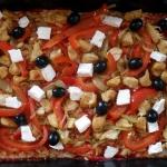 pizza w greckim stylu