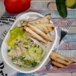 Salatka z lososiem w lekk...
