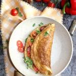 Omlet z kielbasa i kielka...