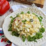 Salatka z pieczona szynka...