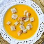 Zupa krem z dyni i slodki...