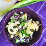 Weganska salatka ziemniac...