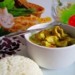 Kurczak curry z ryzem na ...