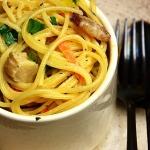 Spaghetti z boczniakami w...