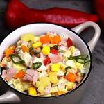 Salatka warzywna z wedzon...