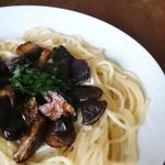 Spaghetti z grzybami,...