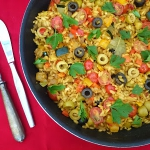 Wegańska paella,...