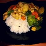 Kurczak- Gyros z warzywam...