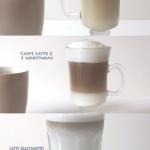 Kawa latte z dwoma i trze...