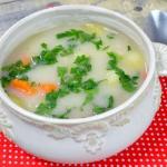 Zupa grysikowa z ziemniak...