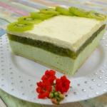 Zielone ciasto z kiwi...