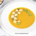 zupa dyniowa z grzankami