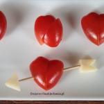serduszka z pomidorów i...