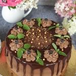 tort czekoladowo jagodowy