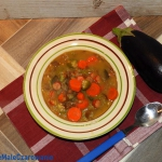 Zupa z baklazanow i okry ...