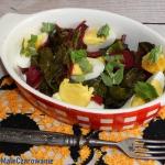 Salatka z botwinki z jaja...