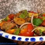 Wloska salatka panzanella...