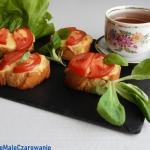 Grzanki z pomidorami