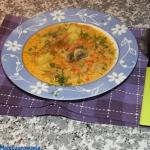Zupa pieczarkowa z ryżem