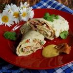 Łososiowe tortille z...