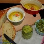 Jaja sadzone w oliwie z s...