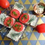 Kanapki z maslem anchois