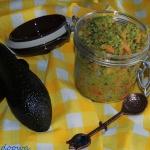 Salsa z awokado i papai