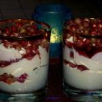 Granatowy   deser